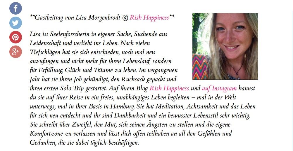 BREAKING NEWS: Gastbeitrag auf Deutschlands größtemReiseblog!